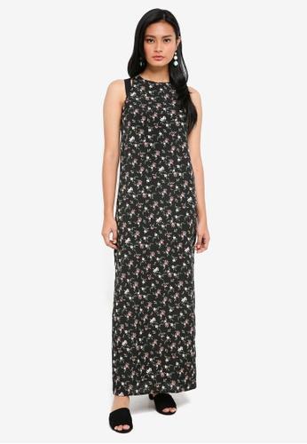Something Borrowed black Cut Out Column Maxi Dress 8CD7FAACE46E8FGS_1