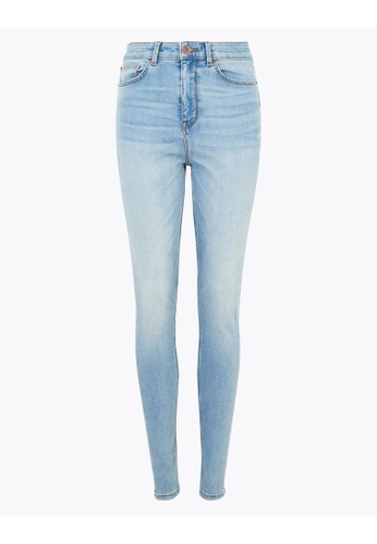 MARKS & SPENCER blue M&S Carrie High Waisted Skinny Jeans C4778AA77E65BCGS_1