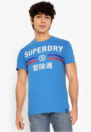 Superdry blue Vintage Sport T-Shirt E4586AA180ACB8GS_1