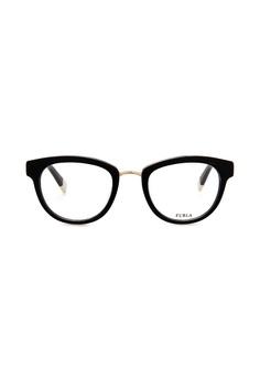 832e370e92 Furla Furla VFU027 Black Gold Eyeglasses FU454AC0RAM9MY 1