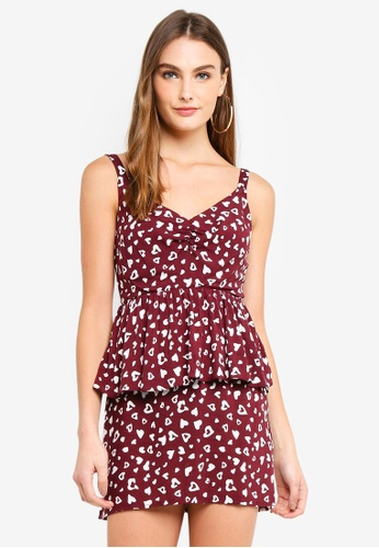 Heart Tiered Mini Dress