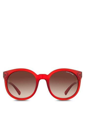Armani Urban Attitude 透明圓框太陽眼鏡, 飾品配件, 飾zalora鞋品配件