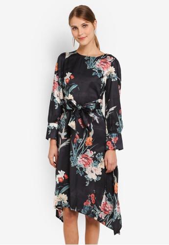 Megane black Allete Printed Oversize Dress ME617AA0SL9FMY_1