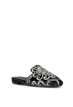 2e57f6cce6b8 49% OFF ZALORA Sequin Embroidered Flats RM 150.00 NOW RM 76.35 Available in  several sizes