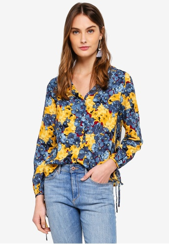 Vero Moda blue and multi Mille Midi Top 9D4BAAA50F3E41GS_1