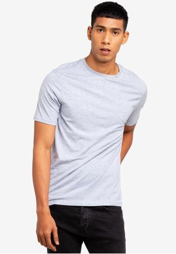 River Island 灰色 短袖修身T恤 CFB90AA9570F9CGS_1
