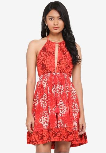 Free People red Beach Day Mini Dress 2B1C6AAD4A7D6BGS_1