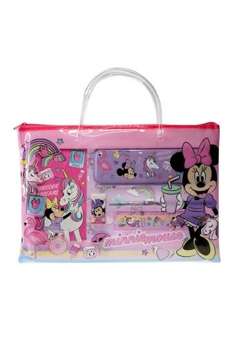 Disney Minnie Disney Minnie Unicorn Stationery Set With Transparent Document Bag C3205KC6671BD3GS_1