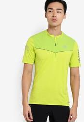 Salomon green Fast Wing Short Sleeve Tee SA438AA73WFEMY_1