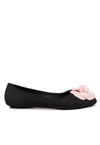 Twenty Eight Shoes 粉色花果凍膠平底鞋T398-8 4A032SHA6474FFGS_1
