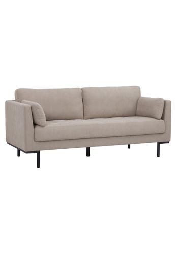 Joy Design Studio beige Herlena 3 Seater Buttoned Sofa in Beige Color 4F454HL89AA34BGS_1