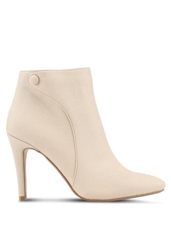 ZALORA 米褐色 Heeled Ankle Boots 7D9F7SHF322AB7GS_1