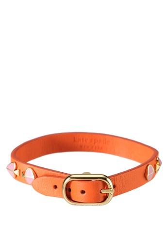 kate spade new york multi Heritage Spade Enamel Stud Leather Bracelet (cv) DAC8CAC76E4C9EGS_1