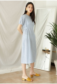 40ba5b51aaa7 34% OFF NAIN Stripe Puff Sleeve Dress S$ 60.90 NOW S$ 39.90 Sizes One size