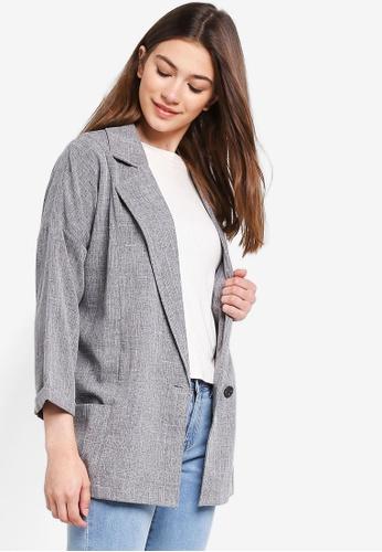 Something Borrowed grey Oversized Boyfriend Blazer 88002AA2809A3BGS_1