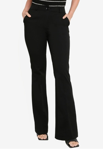 KOTON black Flare Hem Trousers 045A5AAC720AC9GS_1