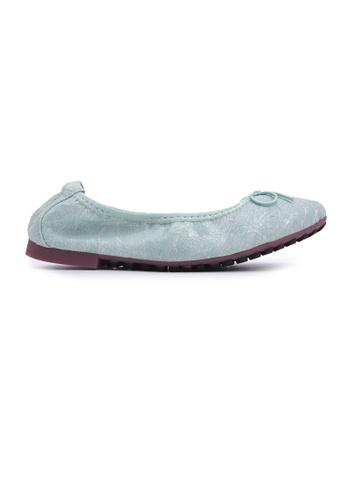 Flatss & Heelss by Rad Russel green Textured Print Flats - Green 1AF09SH58B25DEGS_1