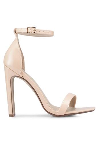 ddab2ee83e80 MISSGUIDED beige Square Toe Illusion Heel Barely Patent Heels  E4B19SH8E46D38GS 1