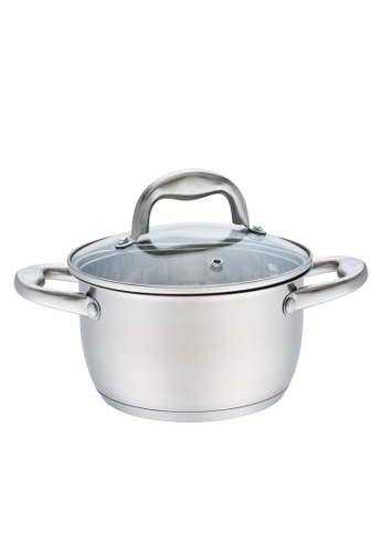 METRO silver 24cm Stainless Steel Casserole with lid 3A867HL8200C21GS_1