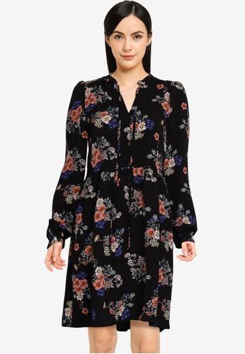 Vero Moda black Saga Long Sleeves Short Dress 70AF2AAEE7EDA1GS_1