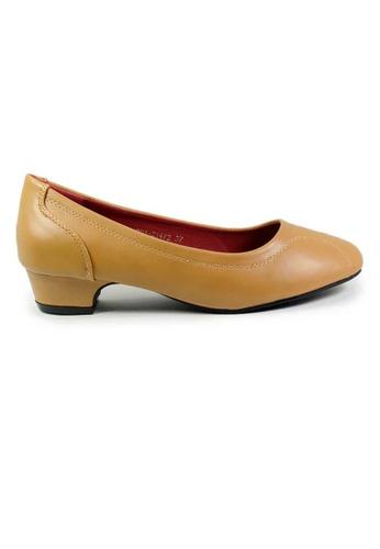 BNC brown and beige Women Low Pump Heel AECBDSHAFF6706GS_1