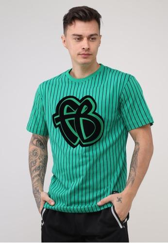 Fubu Boys green Round Neck Regular Fit T-Shirt DC52BAA9A79CE1GS_1