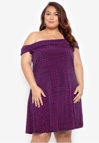 629cd42b277e Shop Curvy Plus Size Leilani Off-Shoulder Dress Online on ZALORA Philippines