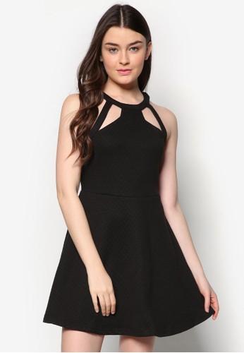 zalora時尚購物網的koumi koumi鏤空提花傘狀洋裝, 服飾, 服飾