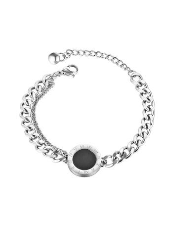 ADORA black Stainless Steel Silver Bracelet FC3CCAC345A81FGS_1