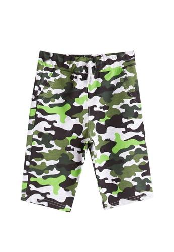 LC Waikiki green Boy?s Camo-Figured Shorts F843DKA83DA96EGS_1