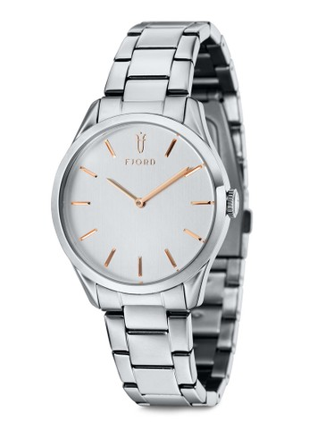 VEesprit chinaNDELA 雙指針金屬鍊圓框錶, 錶類, 飾品配件