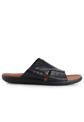 Gino Mariani black Gino Mariani Men's Leather Sandals ELMO 3 - BLACK 3F10ASH9286C57GS_1