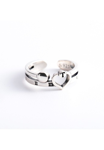 OrBeing 白色 Premium S925 Sliver Geometric Ring C3F0AACB37ABDAGS_1