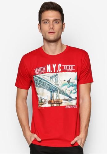 紐約大橋圖文設計TEE, 服飾, Tesprit台灣官網恤
