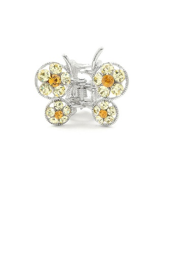 Glamorousky yellow Butterfly Clamp in Yellow Austrian Element Crystals B292CAC82C1779GS_1
