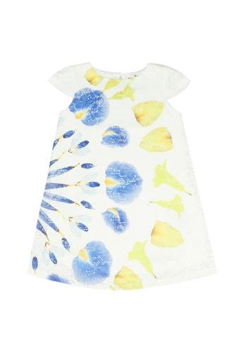 Desigual white Graphic Dress 95E2CKA58B3291GS_1