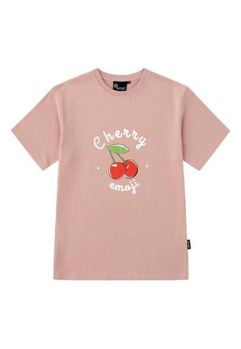 Emoji pink CHERRY TEE DBF33AA75DD91CGS_1