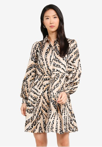 Vero Moda beige Gaja Shirt Dress 2BBC3AA4C64EBAGS_1