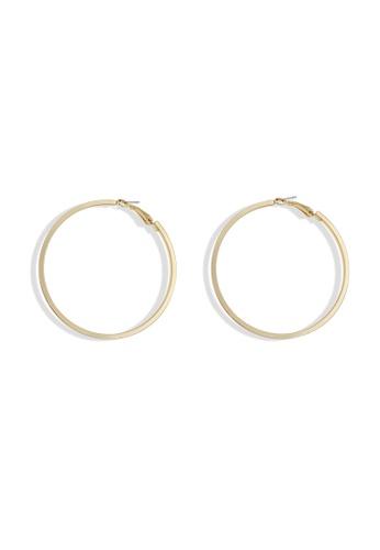 Mellow gold 8cm Hoop Earrings 3062EACC95373AGS_1