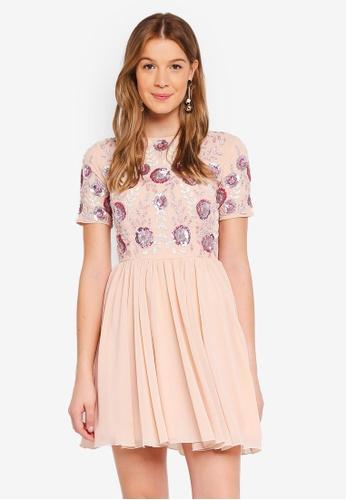 Angeleye pink Embellished Mini Dress 61D74AAB147F0DGS_1