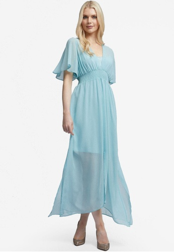 Dorothy Perkins blue Kimono Midaxi Dress A603CAA80717ADGS_1