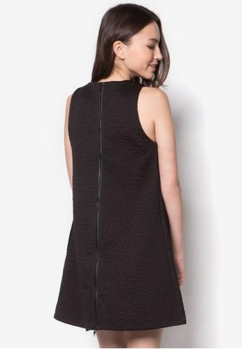 暗紋zalora 包包評價寬擺連身裙, 服飾, 洋裝