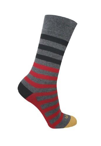 Mundo black and grey Mundo Jeans Casual Men Sock - JN2G004 4E8F0AA86A3A49GS_1
