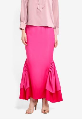 Nuraini pink Lisa Skirt NU222AA0SS45MY_1