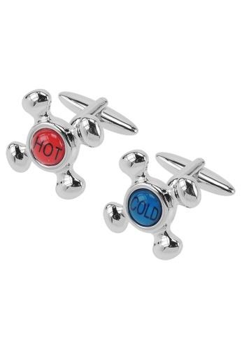 CUFF IT red and blue Hot and Cold Faucet Cufflinks CU047AC18UUZHK_1