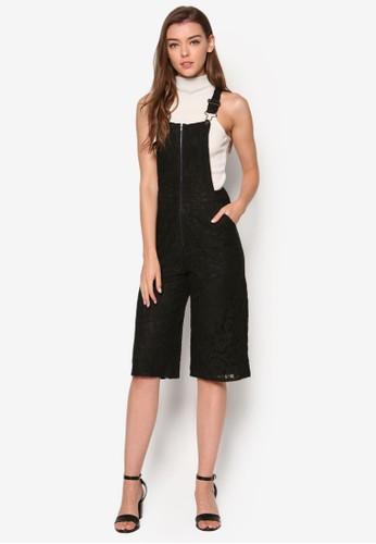 Fletcher  蕾絲拉鍊吊帶esprit台灣連身褲, 服飾, 服飾