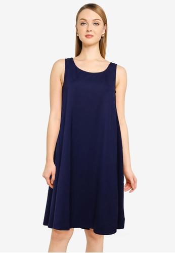 UniqTee navy Premium A Line Sleeveless Dress F0099AAD090432GS_1
