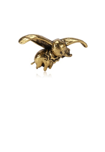 Glamorousky silver Simple and Fashion Plated Gold Dumbo Brooch 46964ACAB84BADGS_1