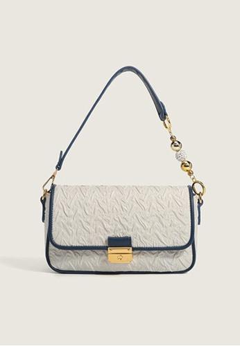 Lara blue Women's Stylish Leather Underarm Bag Handbag - Blue DFAD0AC7074FC6GS_1