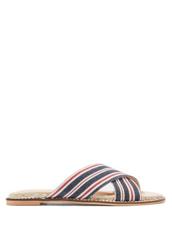 TOPSHOP navy Hibiscus Espadrille Sandals D6BD1SH973B71FGS_1